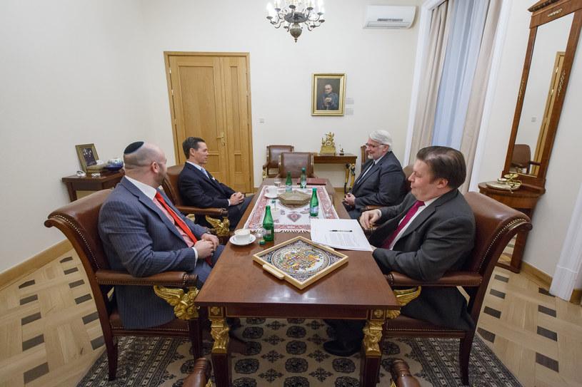 Minister Witold Waszczykowski spotkał się z doradcą prezydenta Donalda Trumpa /www.msz.gov.pl /