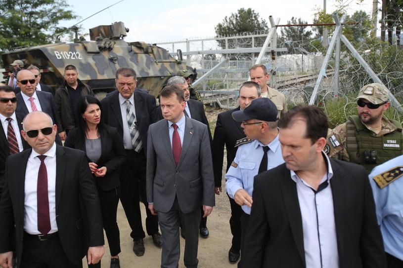 Minister wizytuje obóz dla uchodźców /Leszek Szymański /PAP