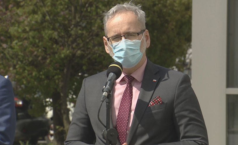 Minister zdrowia Adam Niedzielski na konferencji w Bydgoszczy /Screen z Polsat News /Polsat News