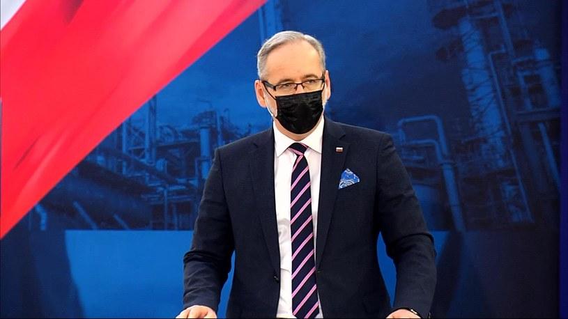 Minister zdrowia Adam Niedzielski podczas debaty o zdrowiu w programie Polski Ład /Polsat News /Polsat News