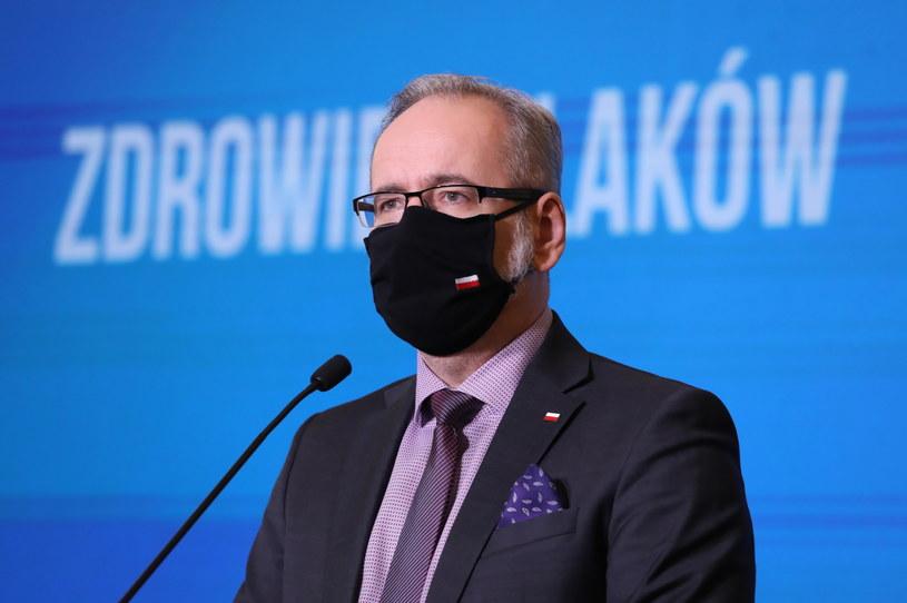 Minister zdrowia Adam Niedzielski podczas konferencji prasowej w siedzibie resortu w Warszawie / Tomasz Gzell    /PAP