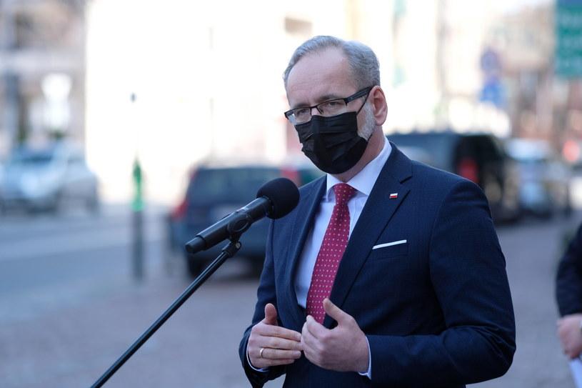 Minister zdrowia Adam Niedzielski podczas konferencji prasowej w Katowicach /Andrzej Grygiel /PAP