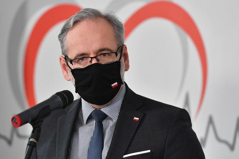 Minister zdrowia Adam Niedzielski podczas konferencji prasowej w Centrum Diagnostyki i Fizjoterapii Werandki w Nałęczowie /Wojtek Jargiło /PAP