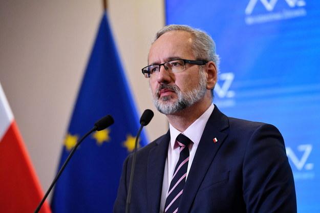 Minister zdrowia Adam Niedzielski podczas konferencji prasowej w Ministerstwie Zdrowia /Piotr Nowak /PAP