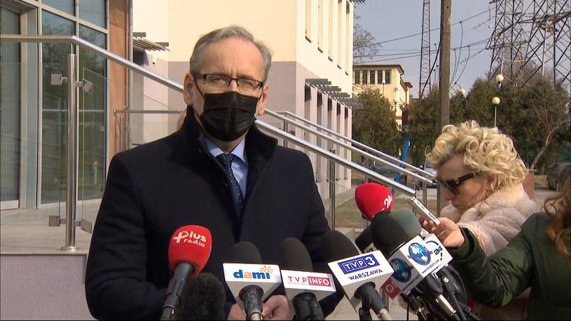 Minister zdrowia Adam Niedzielski w Radomiu /Polsat News