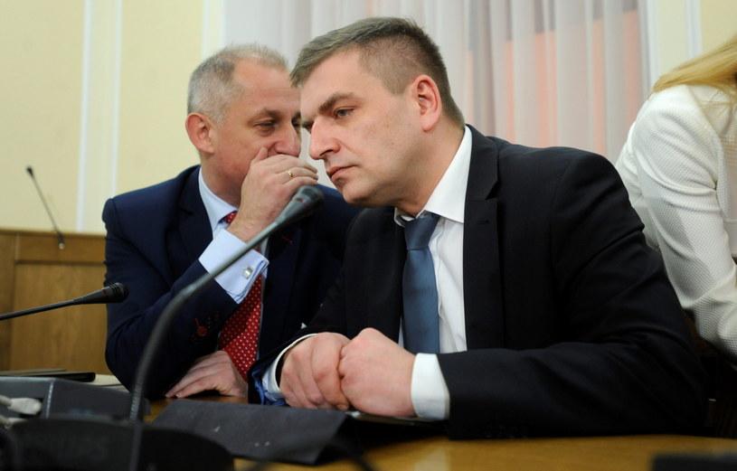 Minister zdrowia Bartosz Arłukowicz i wiceminister Sławomir Neumann /Bartłomiej  Zborowski /PAP