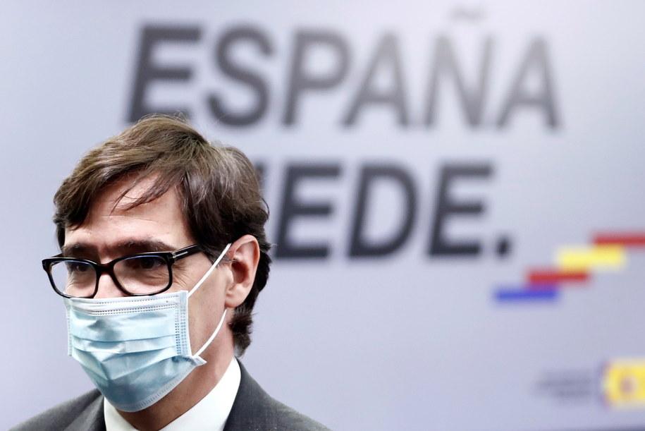 Minister zdrowia Hiszpanii Salvador Illa /MARISCAL /PAP/EPA