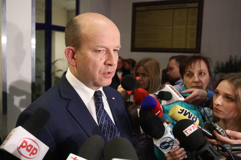 Minister zdrowia Konstanty Radziwiłł po spotkaniu z rezydentami