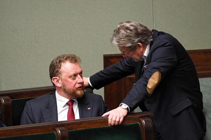 Minister zdrowia Łukasz Szumowski i Główny Inspektor Sanitarny Jarosław Pinkas /Radek  Pietruszka /PAP