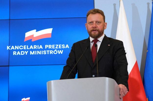 Minister zdrowia Łukasz Szumowski podczas konferencji prasowej poświęconej zagrożeniom związanym z rozprzestrzenianiem się koronawirusa /Mateusz Marek /PAP