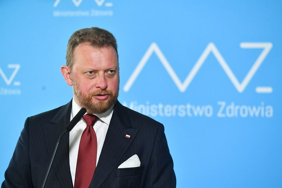 Minister zdrowia Łukasz Szumowski podczas konferencji prasowej w Ministerstwie Zdrowia w Warszawie /Piotr Nowak /PAP