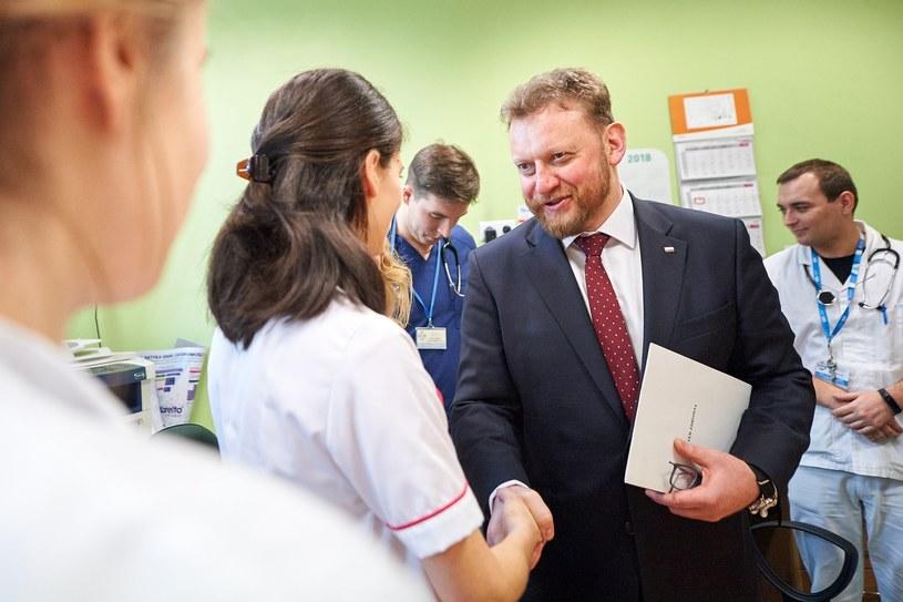 Minister zdrowia Łukasz Szumowski podczas spotkania z młodymi lekarzami /Łukasz Szeląg /Reporter