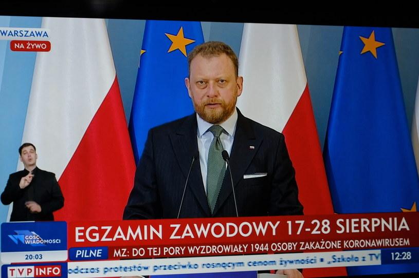 Minister zdrowia Łukasz Szumowski /Mateusz Marek /PAP