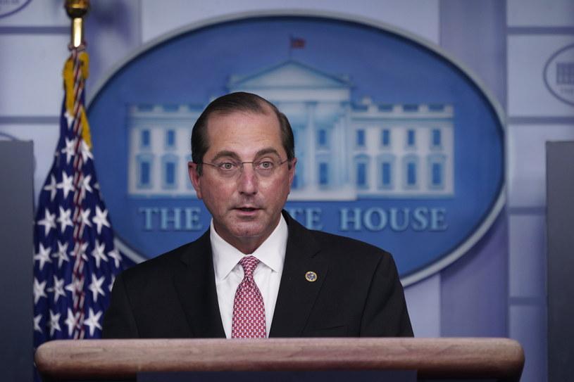 Minister zdrowia USA Alex Azar /CHRIS KLEPONIS / POOL /PAP/EPA