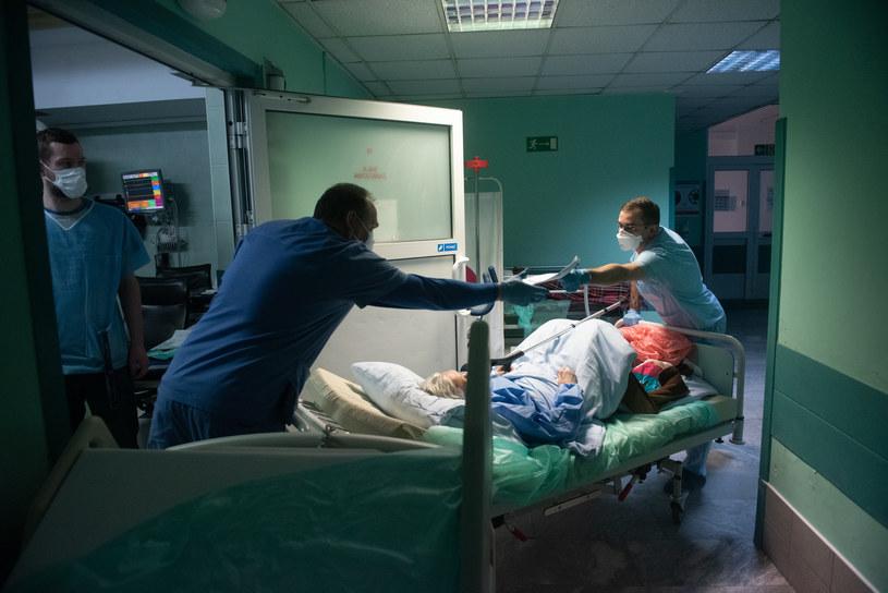 Ministerstwo Zdrowia podało najnowsze dane (na zdj. lekarze w szpitalu Bródnowskim w Warszawie) / Filip Blazejowski /Agencja FORUM