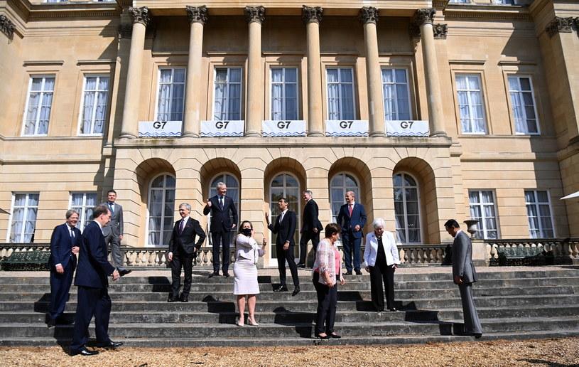 Ministrowie finansów państw G7 / ANDY RAIN    /PAP/EPA