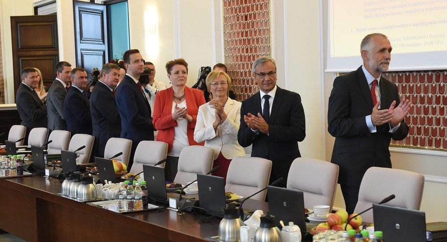 Ministrowie na posiedzeniu rządu /PAP/Radek Pietruszka    /PAP