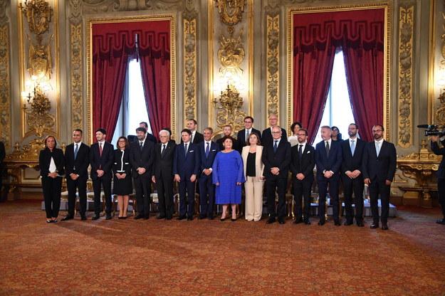 Ministrowie nowozaprzysiężonego włoskiego rządu /ALESSANDRO DI MEO /PAP/EPA