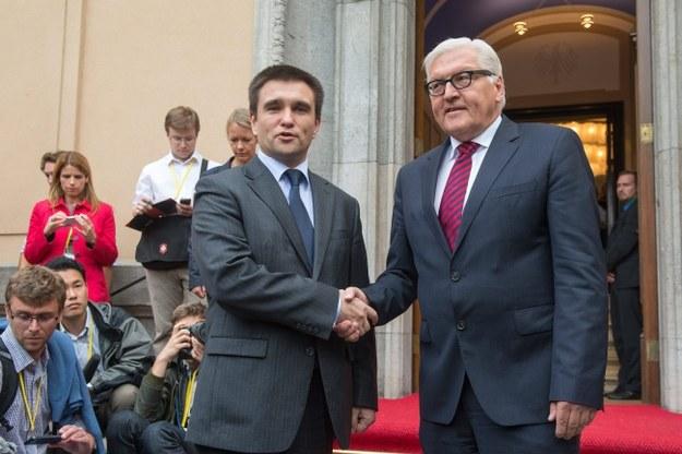 Ministrowie spraw zagranicznych Ukrainy i Niemiec /MAURIZIO GAMBARINI  /PAP/EPA
