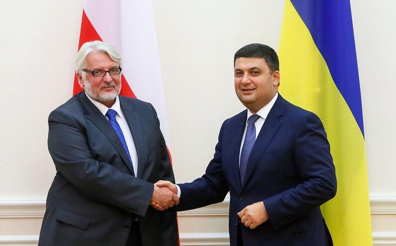 Ministrowie: Witold Waszczykowski i Paweł Klimkin /ROMAN PILIPEY /PAP/EPA