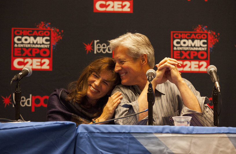 Mira Furlan i Bruce Boxleitner na Chicago Comic and Entertainment Expo w 2013 roku /Barry Brecheisen/WireImage /Getty Images
