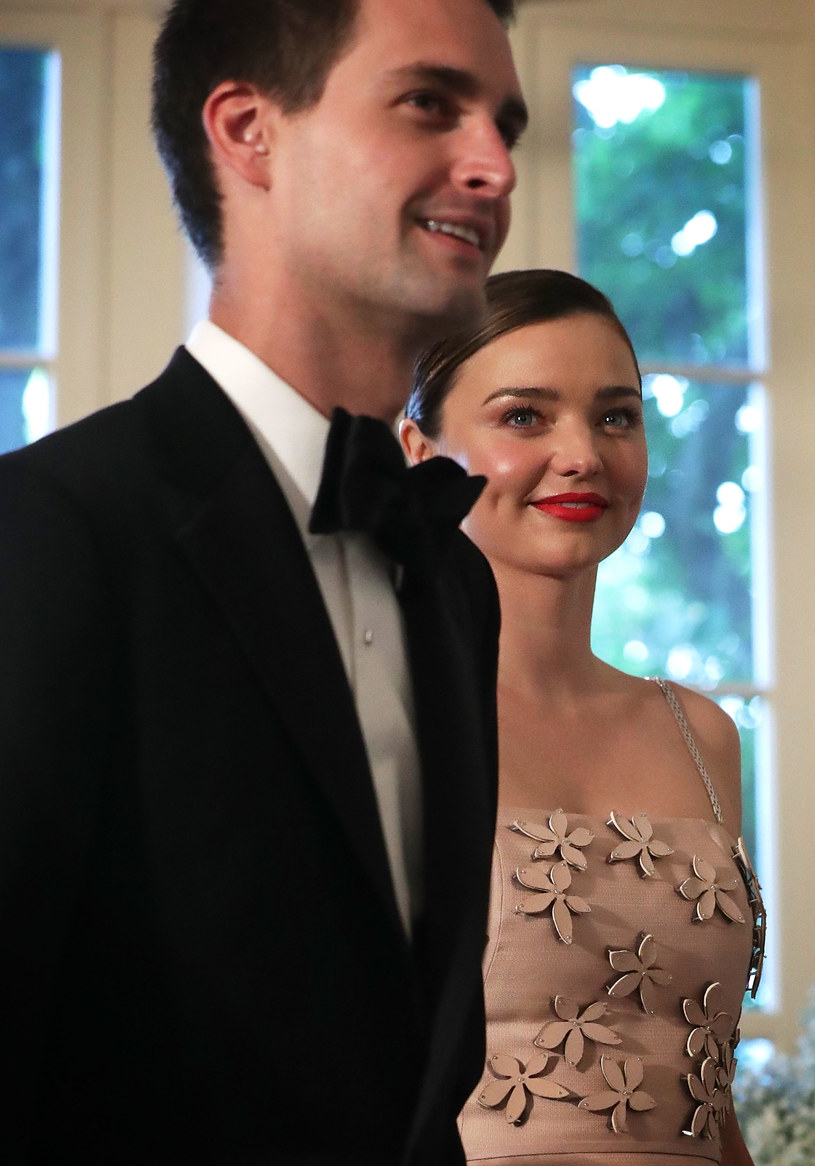 Miranda Kerr i Evan Spiegel /Getty Images