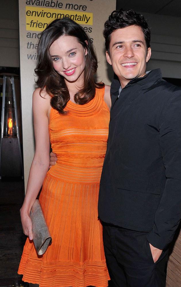 Miranda Kerr i Orlando Bloom uchodzą za jedną z najpiękniejszych par w show-biznesie /Alberto E. Rodriguez /Getty Images