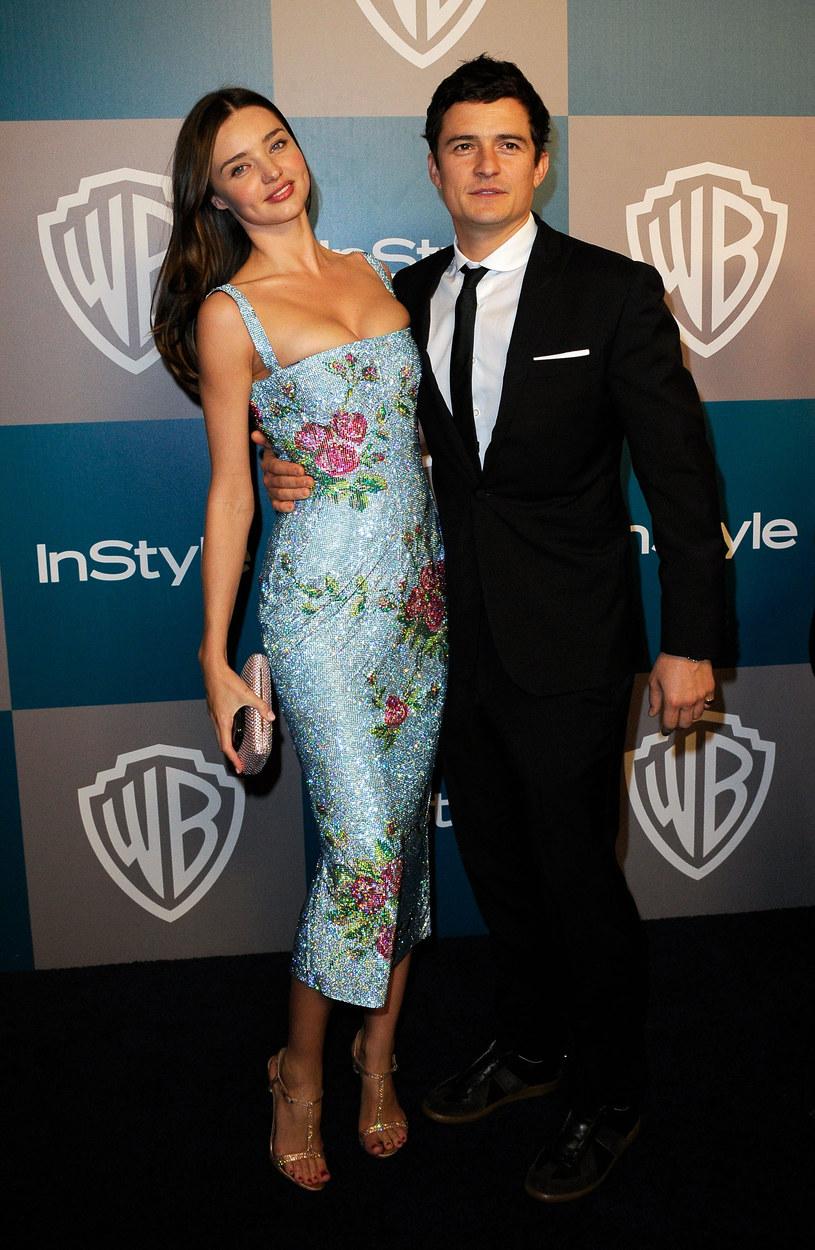 Miranda Kerr z byłym mężem, Orlando Bloomem /Kevork Djansezian /Getty Images
