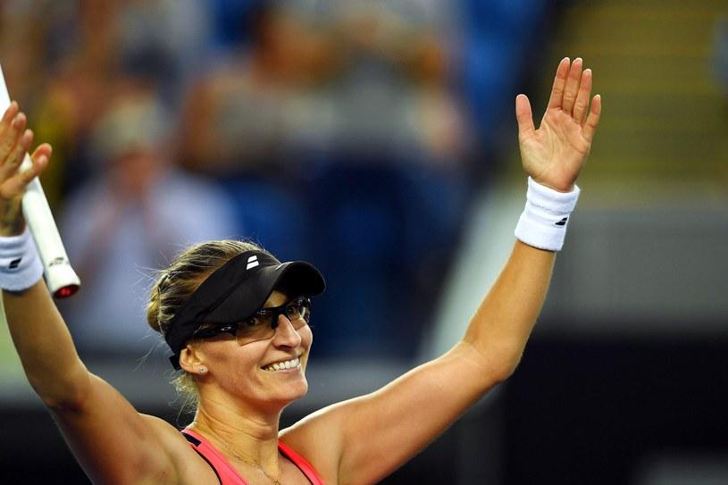 Mirjana Lucić-Baroni raduje się po wyeliminowaniu Agnieszki Radwańskiej w Australian Open /PAP/EPA /PAP/EPA