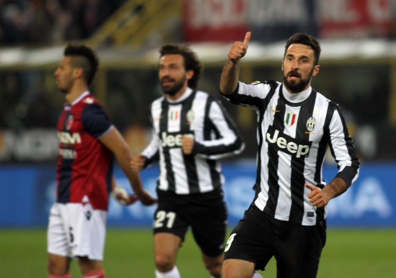 Mirko Vucinić cieszy się z bramki dla Juventusu /AFP