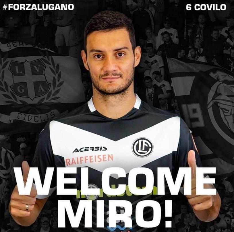 Miroslav Czovilo został zaprezentowany przez Lugano. /