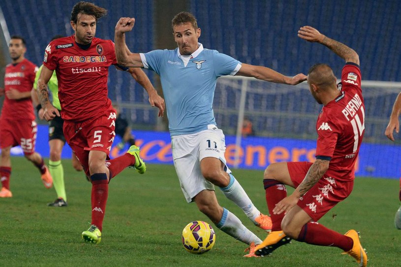 Miroslav Klose, piłkarz Lazio Rzym /AFP