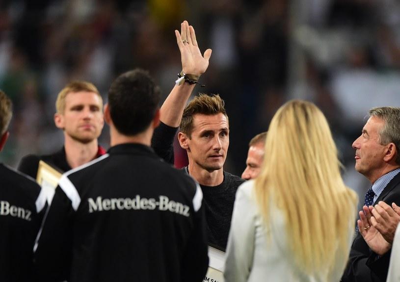 Miroslav Klose pożegnał się z reprezentacją narodową /AFP