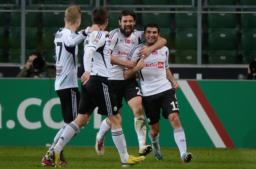 Miroslav Radović i Władimer Dwaliszwili byli bohaterami Legii w meczu z Zagłębiem /AFP