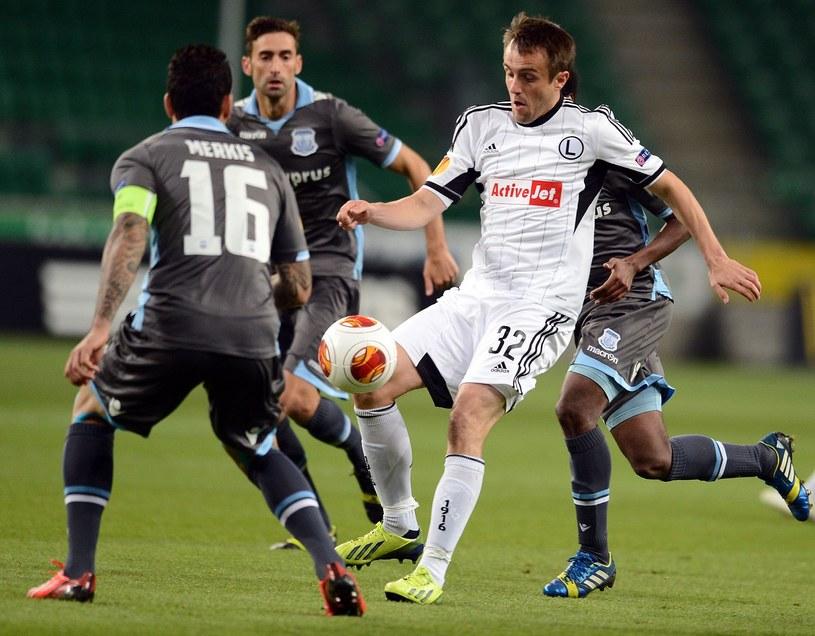 Miroslav Radović podczas meczu Legii z Apollonem Limassol /AFP