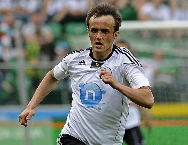 Miroslav Radović strzelił gola Jagiellonii w meczu rozegranym w Ostródzie /Getty Images/Flash Press Media