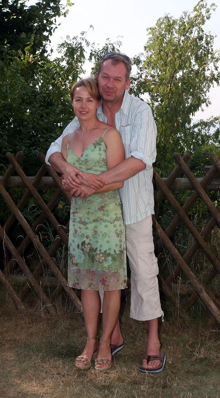 Mirosław Baka z żoną, 2006 rok /Piotr Fotek/REPORTER /East News