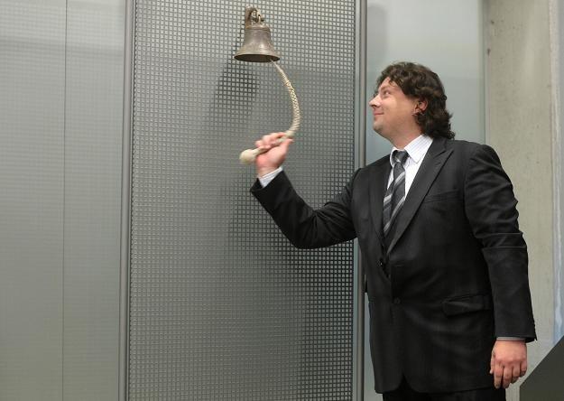 Mirosław Fabryczny, prezes Weedo, podczas debiutu na NewConnect /PAP