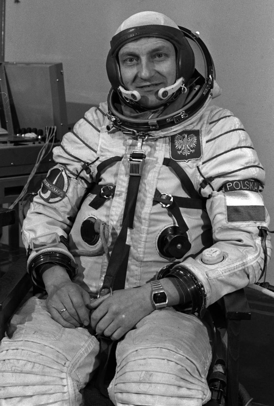 Mirosław Hermaszewski na zdj. z 1978 roku /CAF/Tadeusz Zagoździński /PAP