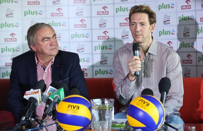 Mirosław Przedpełski (z lewej) i Stephane Antiga /Rafał Guz /PAP/EPA