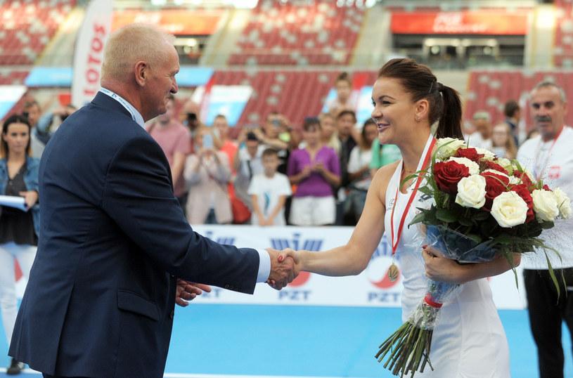Mirosław Skrzypczyński i Agnieszka Radwańska /Jan Bielecki /East News