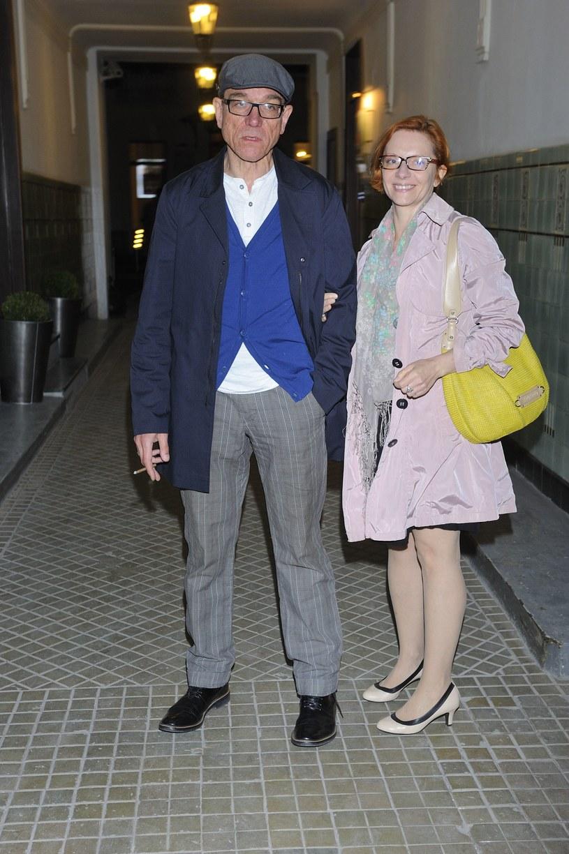 Mirosław Zbrojewicz z żoną Beatą /Jaroslaw Antoniak /MWMedia