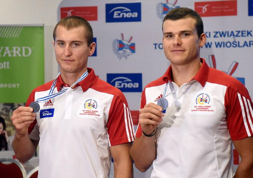 Mirosław Ziętarski (z lewej) i Mateusz Biskup /Radek Pietruszka /PAP