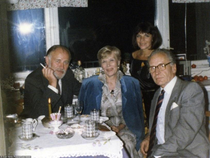 Mirosława Dubrawska i Zygmunt Hübner w odwiedzinach u Sławy Przybylskiej i Jana Krzyżanowskiego, sierpień '86 /East News