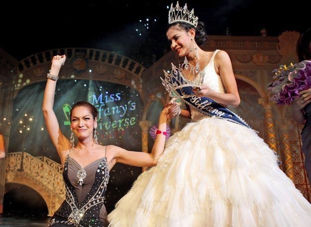 """""""Miss Tifffany Universe"""" konkurs piękności dla katoey - trzeciej płci z Tajlandii. /Getty Images/Flash Press Media"""