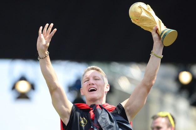 Mistrz świata Bastian Schweinsteiger /AFP