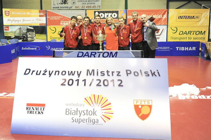 Mistrzowska ekipa Bogorii Grodzisk Mazowiecki /Fot. Marcin Masalski/Bogoria /Informacja prasowa