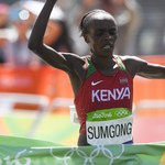 Mistrzyni olimpijska w maratonie na dopingu. Zdyskwalifikowana na 8 lat