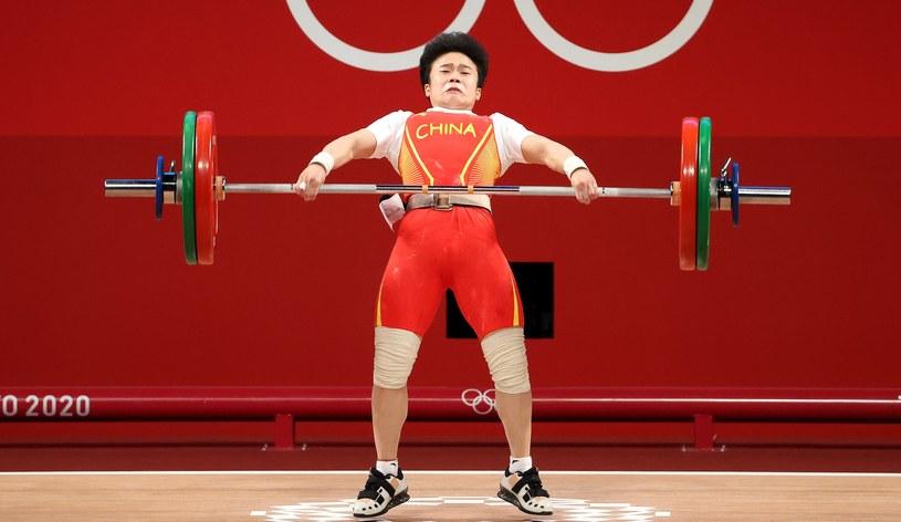 Mistrzyni olimpijska w podnoszeniu ciężarów Hou Zhihui /RITCHIE B. TONGO /PAP/EPA