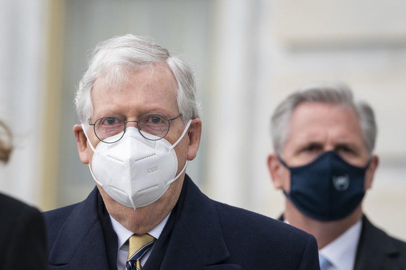 Mitch McConnell (na pierwszym planie) i Kevin McCarthy /DREW ANGERER /Getty Images